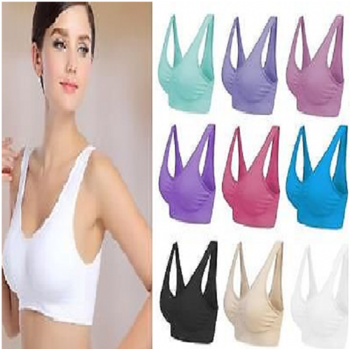 SEAMLESS COMFORT BRA SPORTS STYLE SHAPEWEAR STRETCH LEISURE BRA TOP